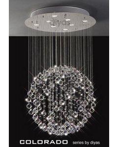 IL30781 Colorado 8 Light Crystal Ceiling Pendant