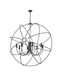 David Hunt Lighting ORB0822 Orb 8 Light Ceiling Pendant in Black