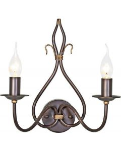 Elstead WM2 Rust/Gold Windermere wrought iron double wall light