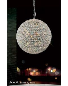 IL30195 Ava 9 Light Crystal Ceiling Pendant