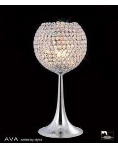 IL30194 Ava 3 Light Chrome And Crystal Table Lamp