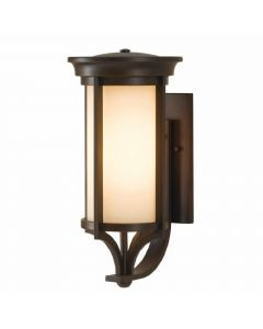 Elstead FE/MERRILL1/M Merrill 1 Light Medium Wall Lantern Light In Heritage Bronze
