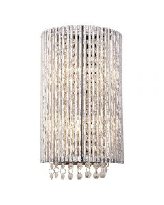 Endon 81978 Galina 2 Light Wall Light In Chrome Plate And Clear Crystal