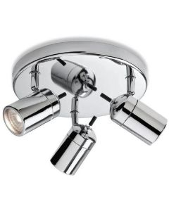 Firstlight 9070CH Atlantic Triple Bathroom Ceiling Spotlight IP44