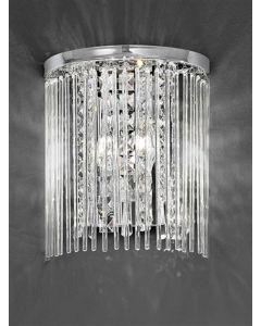 F2310/2 2 Light Chrome and Crystal Wall Light