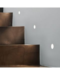 Astro 1342002 Leros Trimless Plastered-In Wall Light In White