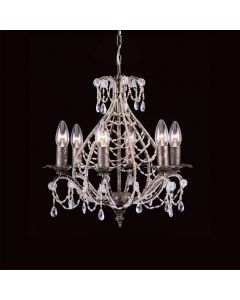 CF04716/06/AS Montpellier 6 Light Crystal Chandelier