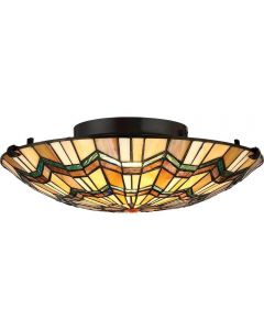 QZ/ALCOTT/F Alcott 2 Light Flush Ceiling Light In Valiant Bronze