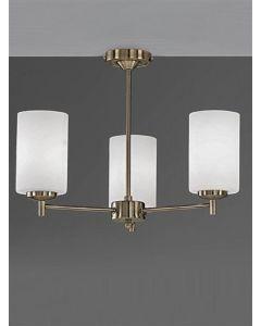 F2272/3 Bronze 3 Light Semi-Flush Ceiling Light