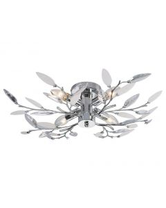 Meadow 4 Light Semi Flush Ceiling Light In Polished Chrome