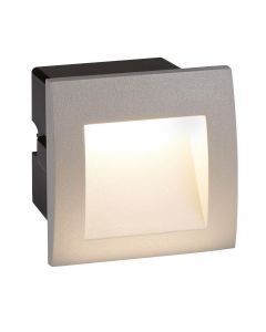 Searchlight 0661GY Ankle Square Recessed Outdoor Wall Light In Grey - Length: 90mm