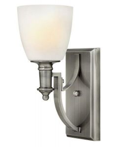HK/TRUMAN1 1 Light Antique Nickel & Glass Wall Light