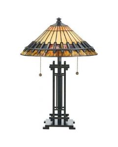QZ/CHASTAIN/TL Chastain Tiffany Bronze 2 Light Table Lamp