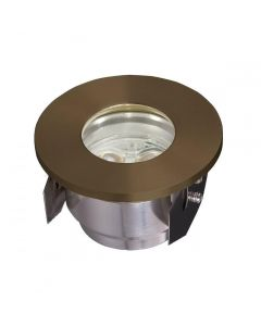 GZ/Fusion2 LED Ground Light In Brass from Garden Zone