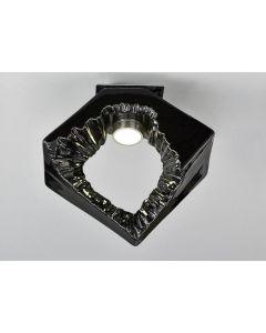 Diyas IL80064 Salvio 1 Light Square Flush Light In Chrome And Black