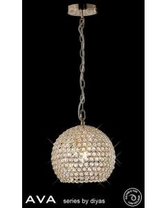 IL30751 Ava 4 Light French Gold Crystal Ceiling Pendant