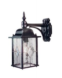 Elstead WX2 Wexford black/silver outside wall light, IP43