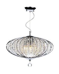 Dar ADR0550 Adriatic 5 Light Chrome And Glass Flush Lamp
