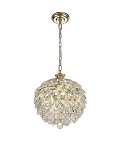 Diyas IL32803 Coniston 3 Light Ceiling Pendant In French Gold