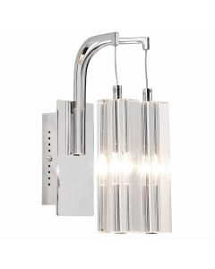 Dar GAL0950/LED Galileo Two Light Wall Light In Chrome With Crystal Shades