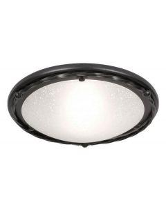 Elstead PB/F/B BLACK Pembroke one light ceiling flush