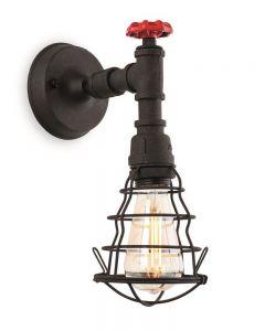 Firstlight 7635RBK Factory 1 Light Wall Light In Rustic Black