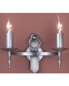 SMRR00162/STR Mitre Two Light Wall Light In A Sterling Finish