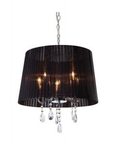 Firstlight 8309 Organza 5 Light Chrome and Crystal Ceiling Pendant