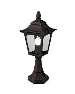 Elstead CPM4 BLACK Chapel Mini Exterior Pedestal Lantern In Black
