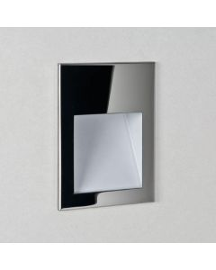 Astro 1212025 Borgo One Light LED Square Recessed Wall Light In Stainless Steel, 2700K - W: 90mm