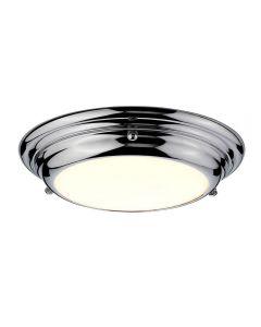 Elstead WELLAND/F/SPC Welland Mini LED FLush Ceiling Light In Polished Chrome - Dia: 245mm