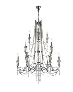 Diyas IL31745 Armand 6+3+3  Light Tiered Ceiling Pendant In Polished Chrome