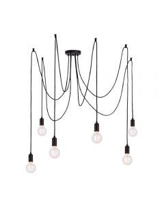Endon 76583 Studio 6 Light Ceiling Pendant In Matt Black