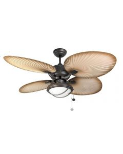 Fantasia 114871 Palm 52 Inch Ceiling Fan In Chocolate Brown With Light