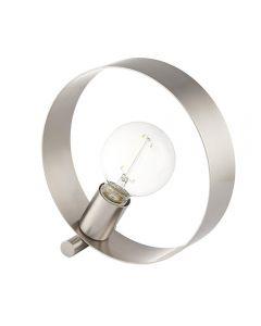 Endon 90453 Hoop 1 Light Table Lamp In Brushed Nickel Plate