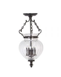 Elstead FP/P/M OB Finsbury Park 3 Light Medium Ceiling Lantern Light In Olde Bronze