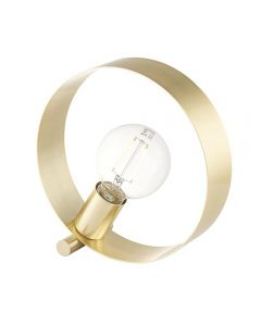 Endon 81920 Hoop 1 Light Table Lamp In Brushed Brass Plate