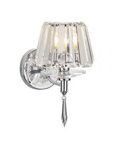 Dar SEL0750 Selina 1 Light Polished Chrome Wall Bracket Crystal Light