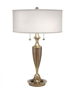 SF/GATSBY BB Gatsby Burnished Brass Zinc Cast Table Lamp with Shade