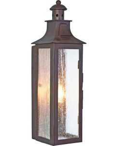 Elstead Stow wrought iron exterior wall lamp, IP23