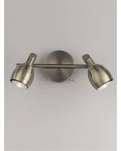 SP9012 Lazio 2 Light Wall Light In Bronze With Fully Adjustable Spotlights