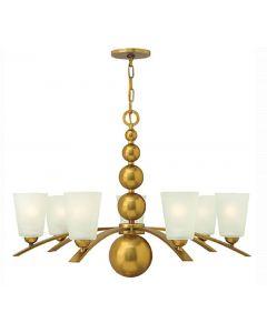 HK/ZELDA7 VS Zelda 7 Light Ceiling Chandelier Light In Vintage Brass