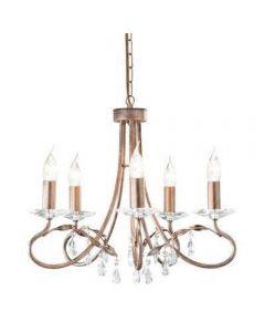 Elstead CRT5 Christina 5 light chandelier