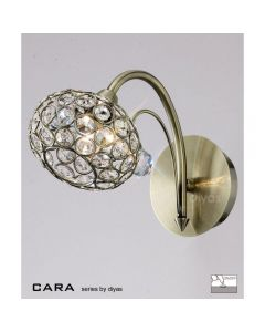IL30941 Cara Antique Brass 1 Light Wall Lamp