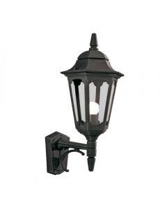 Elstead PR1 BLACK Parish 1 Light Exterior Up Wall Lantern In Black