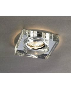 Diyas IL30822CH Clear Crystal Recessed Square Downlight Fascia