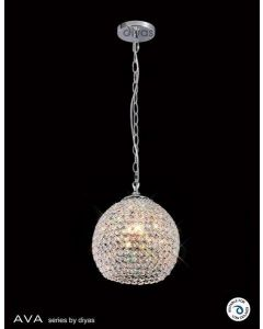 IL30191 Ava 4 Light Chrome And Crystal Ceiling Pendant