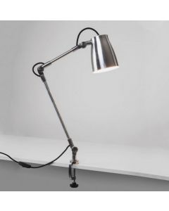 Astro Lighting 1224001 + 1224010 Atelier Arm Assembly with Clamp in Polished Aluminium