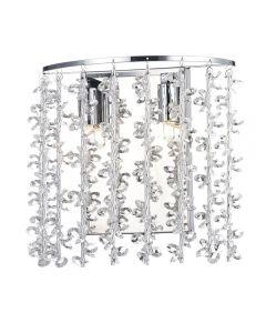Dar SES0950 Sestina 2 Light Crystal Wall Light Fitting