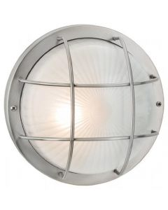 Firstlight 3425ST Court 1 Light Wall Light In Stainless Steel With Frosted Glass